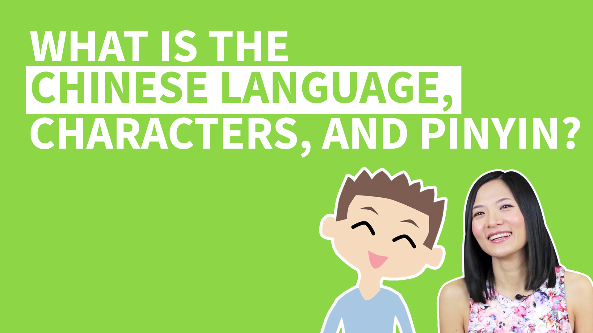 What is the Chinese language? What are Chinese Characters and Pinyin? Watch this introduction to Chinese characters to learn about Chinese writing system!