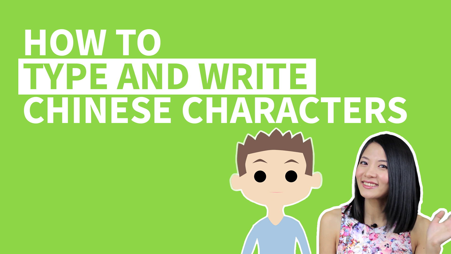 How to Type Chinese Characters with Pinyin Input