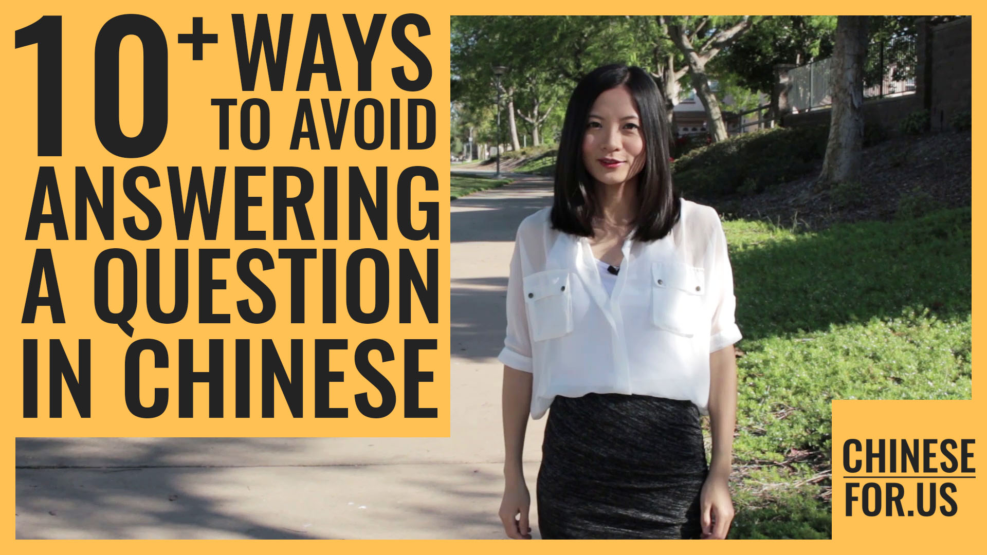 14 Ways To Avoid A Question In Chinese Say No Comment In Chinese