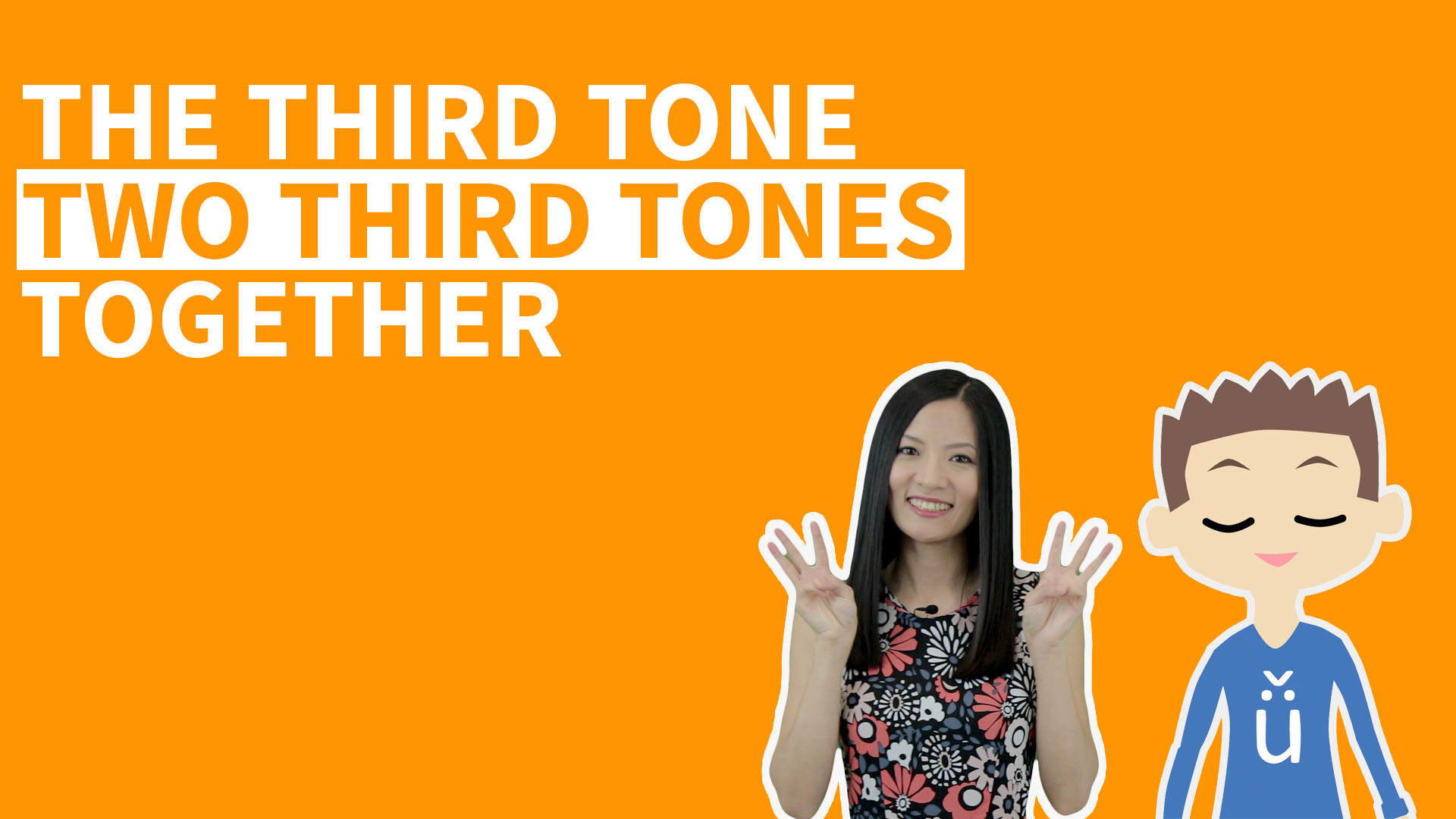 Chinese two Third Tones together is one of the most important Chinese Tone changes. In this video lesson we'll practice it with some fun Pinyin Tone Pairs.